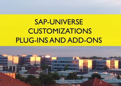 SAP Universe Customizations, Plug-Ins and Add-Ons
